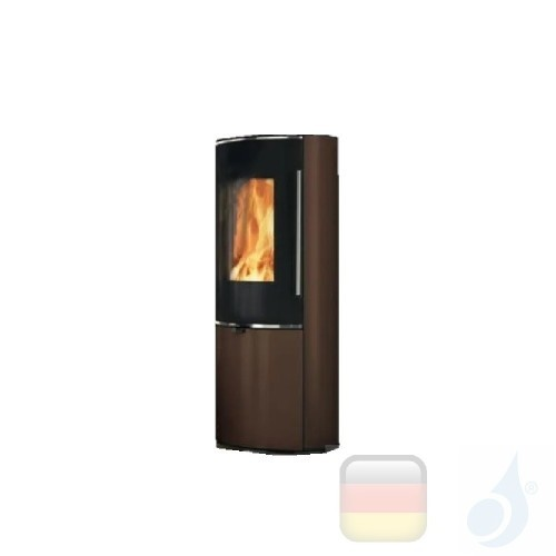 Edilkamin Holzofen Tally 8 Up 8.0 kW Bronze Beschichtungstyp stahl A+ EdilK-808360