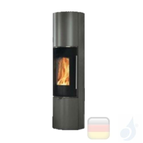 Edilkamin Holzofen Tally 8 Up s 8.0 kW Grau Beschichtungstyp stahl A+ EdilK-808430