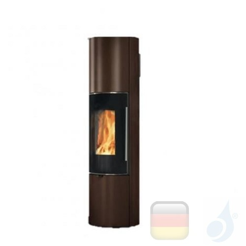 Edilkamin Holzofen Tally 8 Up s 8.0 kW Bronze Beschichtungstyp stahl A+ EdilK-808440