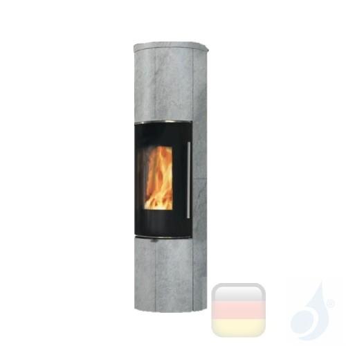 Edilkamin Holzofen Tally 8 Up s 8.0 kW Stein Beschichtungstyp naturstein A+ EdilK-808450