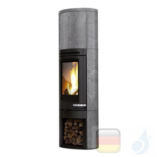 Edilkamin Holzofen Tally 8 s 8.0 kW Stein Beschichtungstyp naturstein A+ EdilK-808490