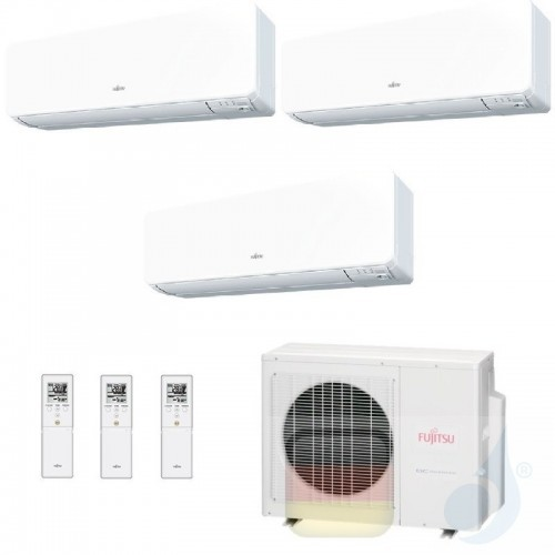 Fujitsu Klimaanlage Trio Split 7+7+12 AOYG18KBTA3 ASYG07KGTB ASYG07KGTB ASYG12KGTB R-32 2.0+2.0+3.5 kW 7000+7000+12000 ASYG-K...