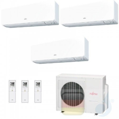 Fujitsu Klimaanlage Trio Split 7+7+12 AOYG24KBTA3 ASYG07KGTB ASYG07KGTB ASYG12KGTB R-32 2.0+2.0+3.5 kW 7000+7000+12000 ASYG-K...