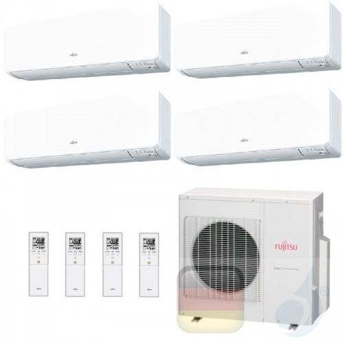 Fujitsu Klimaanlage Quadri Split 7+7+9+12 AOYG30KBTA4 ASYG07KGTB ASYG07KGTB ASYG09KGTB ASYG12KGTB R-32 2.0+2.0+2.5+3.5 kW ASY...