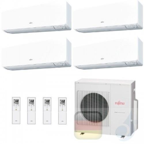 Fujitsu Klimaanlage Quadri Split 9+9+12+12 AOYG30KBTA4 ASYG09KGTB ASYG09KGTB ASYG12KGTB ASYG12KGTB R-32 2.5+2.5+3.5+3.5 kW AS...