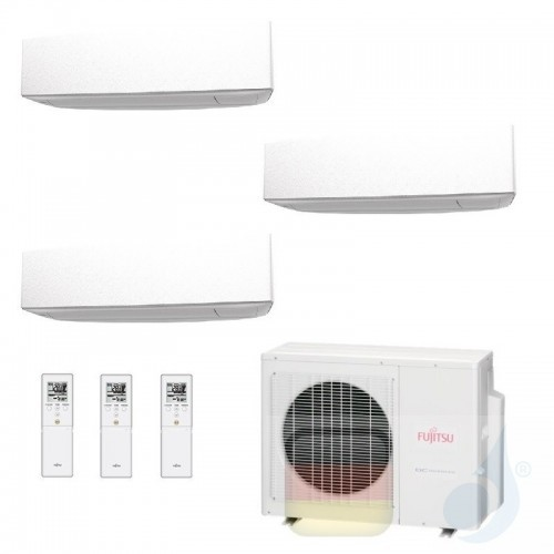 Fujitsu Klimaanlage Trio Split 7+7+9 AOYG18KBTA3 ASYG07KETA ASYG07KETA ASYG09KETA R-32 2.0+2.0+2.5 kW 7000+7000+9000 ASYG-KE-...