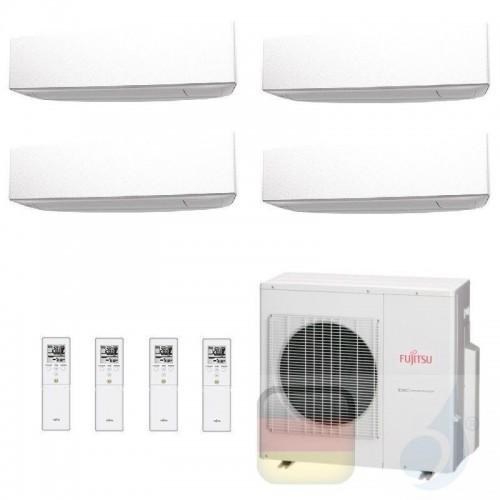 Fujitsu Klimaanlage Quadri Split 9+9+12+12 AOYG30KBTA4 ASYG09KETA ASYG09KETA ASYG12KETA ASYG12KETA R-32 2.5+2.5+3.5+3.5 kW AS...