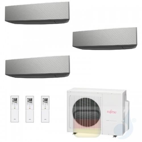 Fujitsu Klimaanlage Trio Split 7+7+12 AOYG18KBTA3 ASYG07KETA-B ASYG07KETA-B ASYG12KETA-B R-32 2.0+2.0+3.5 kW 7000+7000+12000 ...