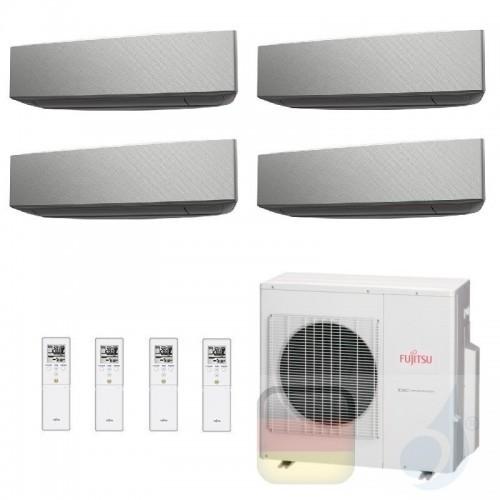 Fujitsu Klimaanlage Quadri Split 7+7+9+12 AOYG30KBTA4 ASYG07KETA-B ASYG07KETA-B ASYG09KETA-B ASYG12KETA-B 2.0+2.0+2.5+3.5 kW ...