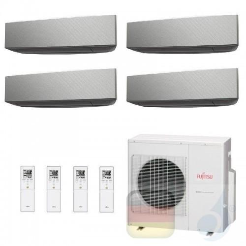 Fujitsu Klimaanlage Quadri Split 9+9+9+9 AOYG30KBTA4 ASYG09KETA-B ASYG09KETA-B ASYG09KETA-B ASYG09KETA-B 2.5+2.5+2.5+2.5 kW A...