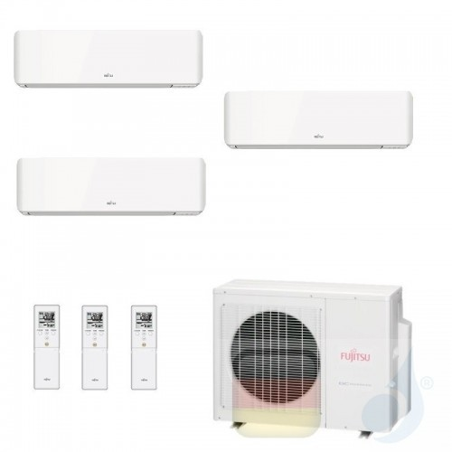 Fujitsu Klimaanlage Trio Split 7+7+9 AOYG18KBTA3 ASYG07KMCC ASYG07KMCC ASYG09KMCC R-32 2.0+2.0+2.5 kW 7000+7000+9000 ASYG-KM-...