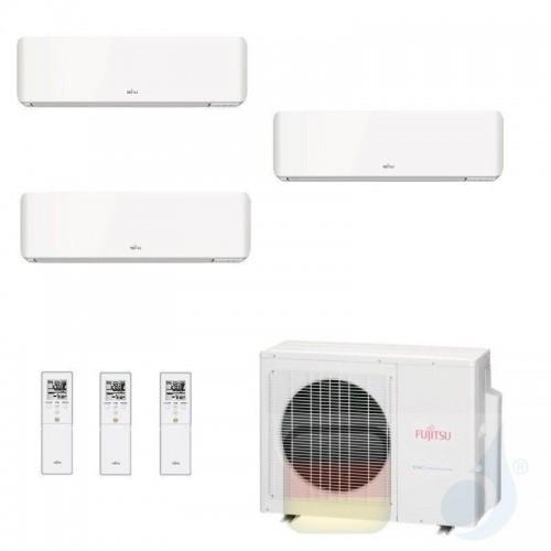 Fujitsu Klimaanlage Trio Split 7+7+12 AOYG24KBTA3 ASYG07KMCC ASYG07KMCC ASYG12KMCC R-32 2.0+2.0+3.5 kW 7000+7000+12000 ASYG-K...