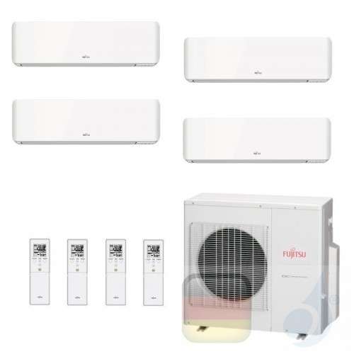 Fujitsu Klimaanlage Quadri Split 7+7+9+12 AOYG30KBTA4 ASYG07KMCC ASYG07KMCC ASYG09KMCC ASYG12KMCC R-32 2.0+2.0+2.5+3.5 kW ASY...