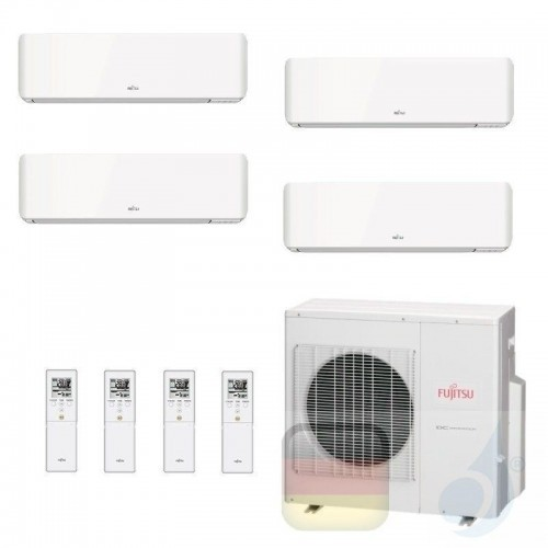 Fujitsu Klimaanlage Quadri Split 12+12+12+12 AOYG30KBTA4 ASYG12KMCC ASYG12KMCC ASYG12KMCC ASYG12KMCC R-32 3.5+3.5+3.5+3.5 kW ...