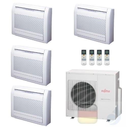 Fujitsu Quadri Split 12+12+12+12 Fußboden AOYG30KBTA4 AGYG12KVCA AGYG12KVCA AGYG12KVCA AGYG12KVCA Klimaanlage R-32 AGXG-KVCA-...