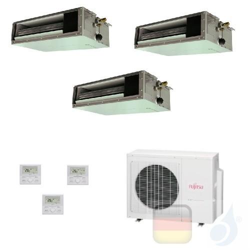 Fujitsu Trio Split 7+7+12 Ducted AOYG18KBTA3 ARXG07KSLAP ARXG07KSLAP ARXG12KSLAP Klimaanlage KS Mini R-32 Kanaleinbaugeräte A...
