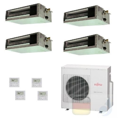 Fujitsu Quadri Split 9+9+12+12 Ducted AOYG30KBTA4 ARXG09KSLAP ARXG09KSLAP ARXG12KSLAP ARXG12KSLAP Klimaanlage Kanaleinbaugerä...