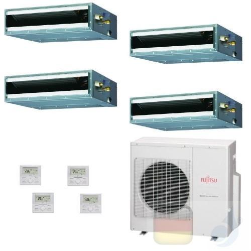 Fujitsu Quadri Split 12+12+12+12 Ducted AOYG30KBTA4 ARXG12KLLAP ARXG12KLLAP ARXG12KLLAP Klimaanlage KL Kompakt ARXG-KLLAP-12+...