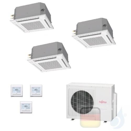 Fujitsu Trio Split 9+9+12 Kassette AOYG18KBTA3 AUXG09KVLA AUXG09KVLA AUXG12KVLA Klimaanlage KV Kompakt R-32 Kassettengerät AU...