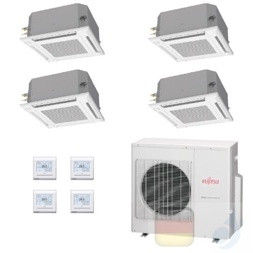 Fujitsu Quadri Split 7+7+9+12 Kassette AOYG30KBTA4 AUXG07KVLA AUXG07KVLA AUXG09KVLA AUXG12KVLA Klimaanlage Kassettengerät AUX...