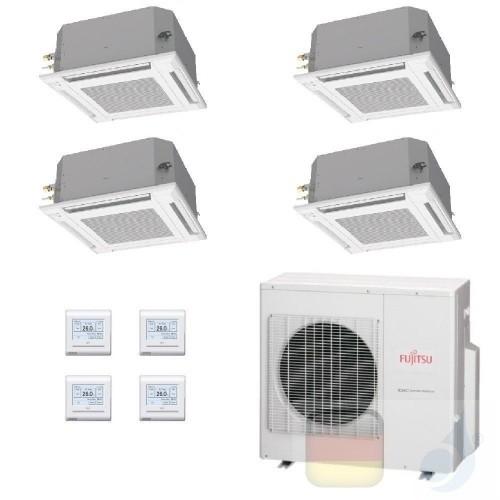 Fujitsu Quadri Split 12+12+12+12 Kassette AOYG30KBTA4 AUXG12KVLA AUXG12KVLA AUXG12KVLA AUXG12KVLA Klimaanlage Kassettengerät ...