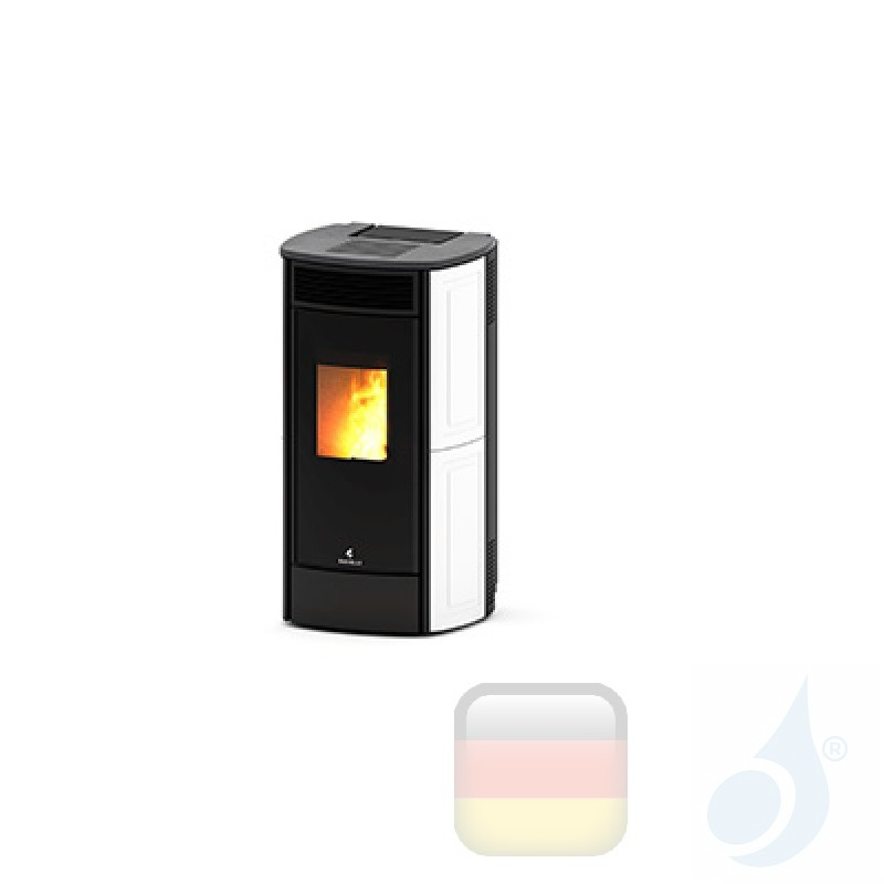Pelletofen Ravelli 10.8 kW SPHERE C Ceramica keramic Weiß
