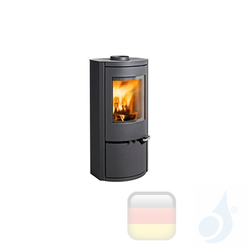 Holzofen Ravelli 6 kW DAFNE metal Schwarz